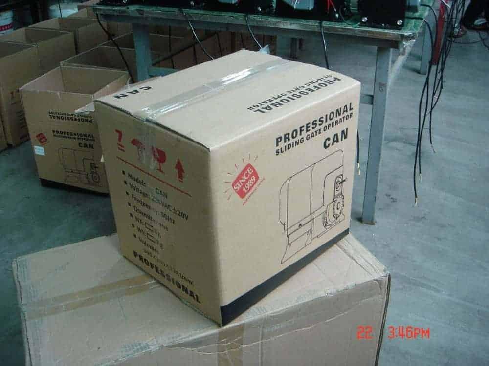 Đóng gói sản phẩmMOTOR CỔNG TRƯỢT BS-CAN-AC-800 2