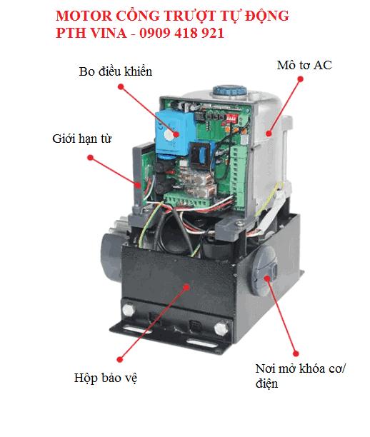 cấu tạo motor cổng trượt tự động