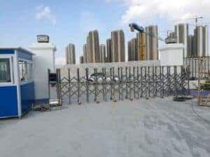 lắp đặt cổng xếp inox tại Phan thiết - Bình Thuận