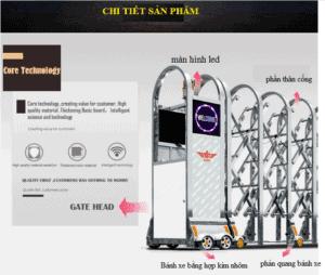 tính năng cổng xếp inox tự động