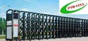 cổng xếp hợp kim nhôm
