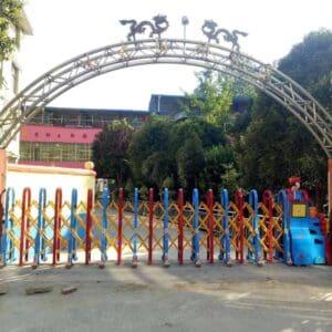 lắp đặt cổng xếp nhôm tại Tây Ninh