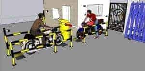 Hình ảnh: Mô phỏng Máy giữ xe kết hợp với barrier