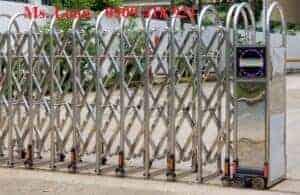 Hình ảnh: mẫu cổng xếp inox có ray đẹp năm 2020