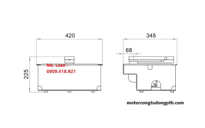 Kích thước motor âm sàn