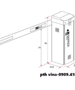 Kích thước barrier MAG