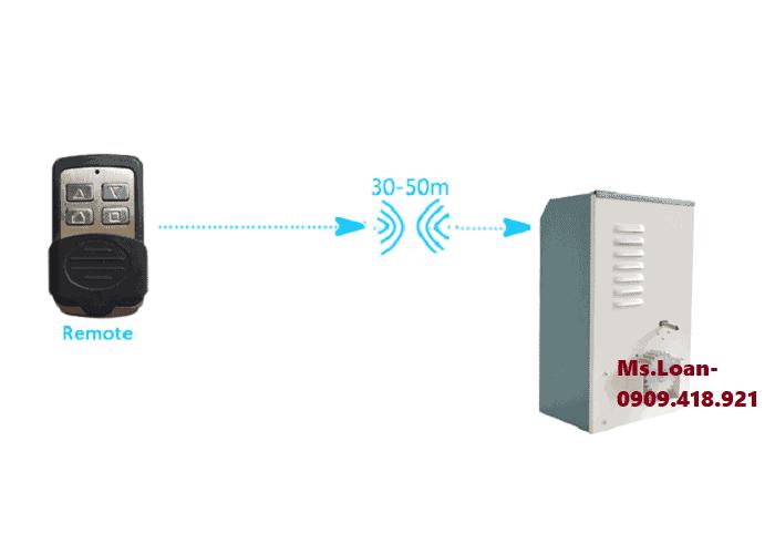 Điều khiển mô tơ cổng bằng remote