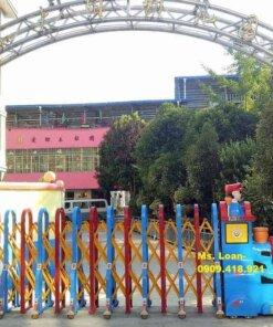 Cổng xếp điện khu vui chơi