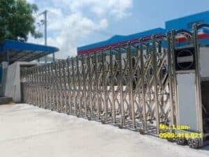 Cổng xếp điện tự động cho cơ quan