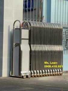 Nhận thi công cổng xếp điện giá rẻ