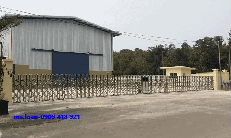 Cổng xếp điện tại long an